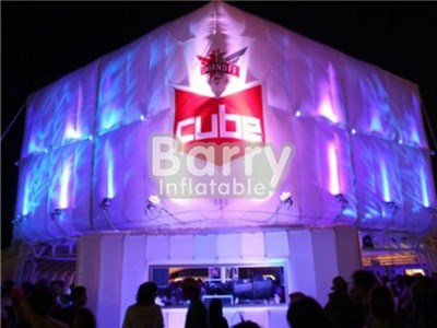 Outdoor giant led inflatable cube tent ,lighting tent inflatable for sale BY-IT-005